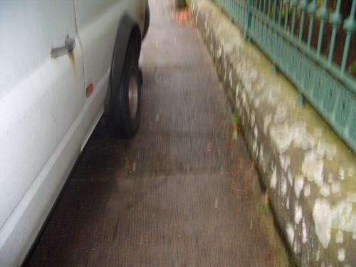vehicle parked on footpath.JPG